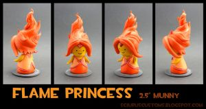 Flame princess micro munny by FlyingSciurus