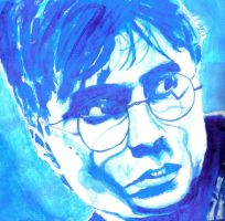 Harry Potter in blue watercolour by MauricioKanno