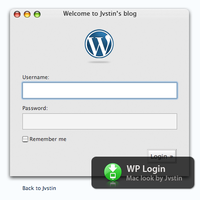 Mac Look Wordpress Login by Jvstin