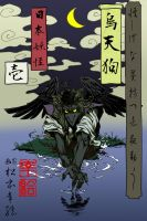 youkai haiku . karasu tengu by spacecoyote