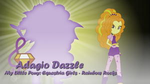 Adagio Dazzle - MLP:EG - Rainbow Rocks Wallpaper by Joeycrick
