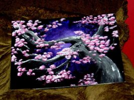 Cherry Blossoms - Oil Paint by Toxic-Muffins-Studio