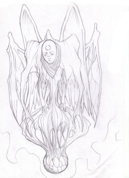 Alien Uncolored by MikeArt95