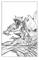WIP: Rocket and Groot (Digital Pencils) by Hodges-Art