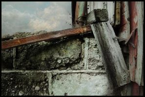 iPhoneography,  Rust on the Downspout by arminmersmann2