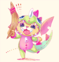 Dino Gnar by MizoreAme