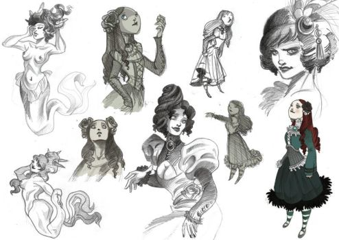 Sketches by kyla79