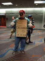 Mario on vacation. by Jacky-the-Nerd
