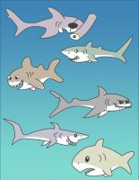 Shark designs by solitaryzombie