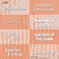 MiniPack#4 |Fonts| by Absolute-A