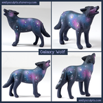 Galaxy Wolf by emilySculpts