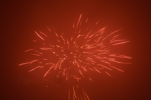 Red Fireworks by MistressDead