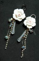 flower and crystal ss earrings by meganhor