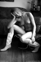 Yelena on Leather Chair by M7editor