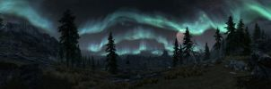 Whiterun and the Aurora 2 by The-Brade