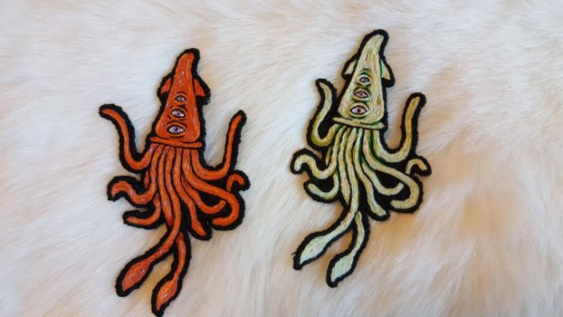 squid friends patches by MalumDiscordiae