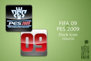 FIFA 09 and PES 2009 Dock Icon by BloodyMoogle