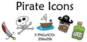 Scurvy Pirate Icons by j-wahlgren