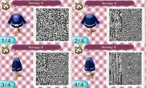 Animal Crossing NL-Hetalia QR Codes- Norway by hearts2love16