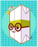 Dork Juice Box Boy by marywinkler