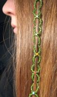 Beaded Hair Wrap by TheCrimsonCrow