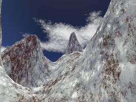 Red Crystal Mountains by Raelix