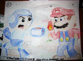 Mega Man vs Mario by Bleu-Ninja