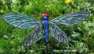 Dragonfly plant stake #1 by HollieBollie