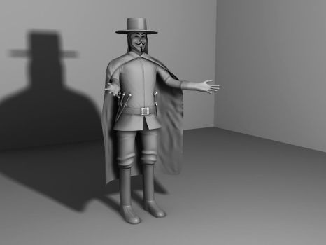 V Model Clay Render by JustinMs66