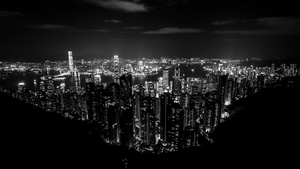 Lights of Hong Kong by TimGrey