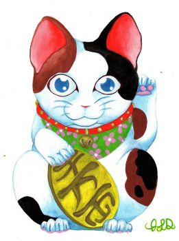 Maneki Neko by Bewildermunster