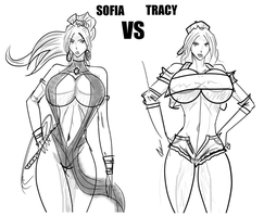 Sofia vs. Tracy (Front Cover) by satoopid