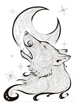 Color - Me Howling Wolf by AndromedasWitchery
