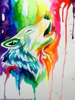 New Rainbow Wolf (On Ebay) by Lucky978