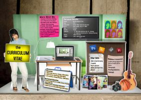 My CV Resume Pop Up Card by y0rri