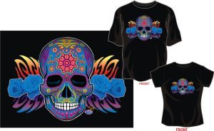 day of the dead shirt roses by godzillasmash