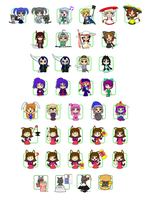 Infinity-Style OS-tan Minis by C-quel