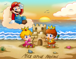 Commish: Day At The Beach by Nintendrawer