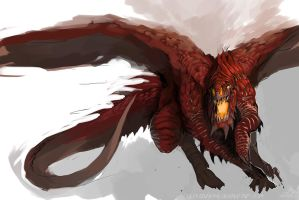 Speedpaint: Red Dragon by DefiledVisions