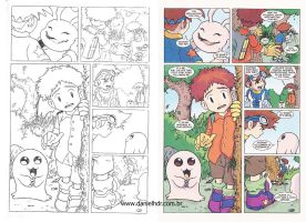 Digimon - pencil and color by danielhdr