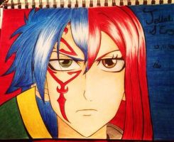 Jellal and Erza by charswarrenxo