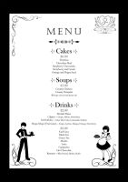 S2 Maid and Butler Cafe Menu by aquazure