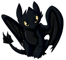 Toothless - color by Tailzkip
