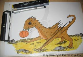 Baby Smaug by cat-in-yellow
