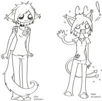 Lil Gato and Hisser by Jaglep
