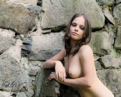 Against a stone wall by madlynx