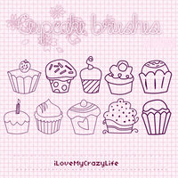 Cupcake Brushes by ILoveMyCrazyLife