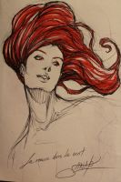A redhead in the wind by Heri-Shinato