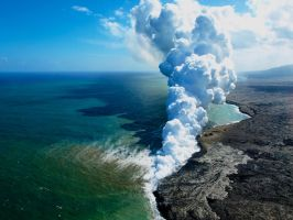 When Magma Meets Ocean 2 by AquarianPhotography