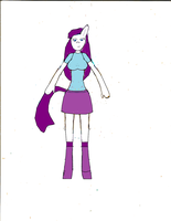 My Little Pony Anthro Rarity-2 by justinandrew5884-1